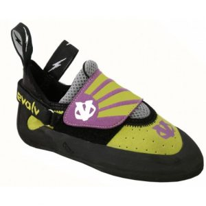Evolv Venga Kids Climbing Shoes - Lime Green/Purple