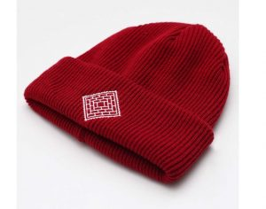 The National Skateboard Co Post Details X beanie - Red