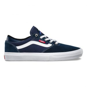 Vans Gilbert Crockett Pro Skate Shoes - Navy/White/Red