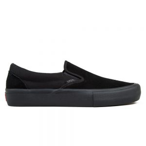 Vans Slip on Pro Skate Shoes - Blackout - Side view