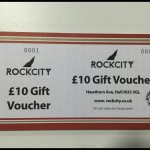 Buy your £10 Gift Voucher from the Rockcity Shop