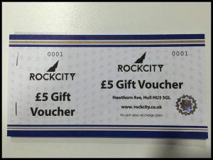 £5 Rockcity Gift Voucher