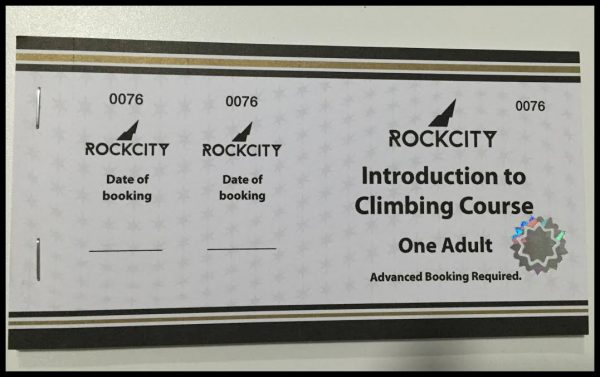 Rockcity Adult Climbing Introduction Gift Card