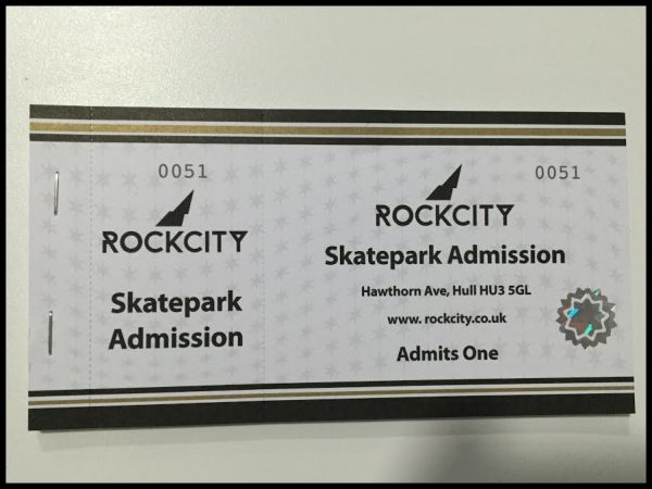 Rockcity Skatepark Day Session Gift Card