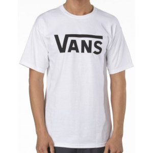 Vans Classic Tee - White with Black Logo