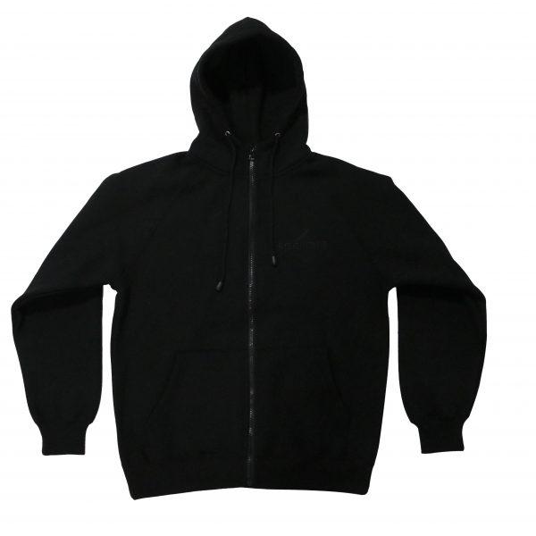 Zip Hoodie - Black/ Black-0