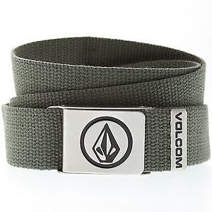 Volcom Circle Web Premium Belt - Lead