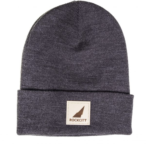 Leather Patch Beanie-0