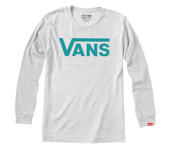 Vans Classic Long Sleeve - White/Baltic-0
