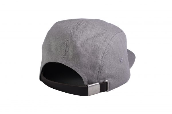 Rockcity Stiched Patch Five Panel - Grey - Rear View