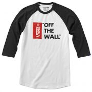 Vans Off The Wall Raglan - White-Black-0