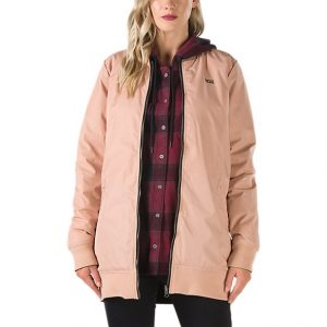 Boom Boom Long Reversible Jacket - Mahogany Rose-0