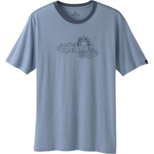Sun HeatheredTee - Light Blue -0
