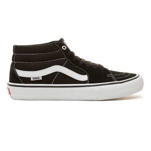 Vans Sk8 Mid Pro Skate Shoes - Black/White