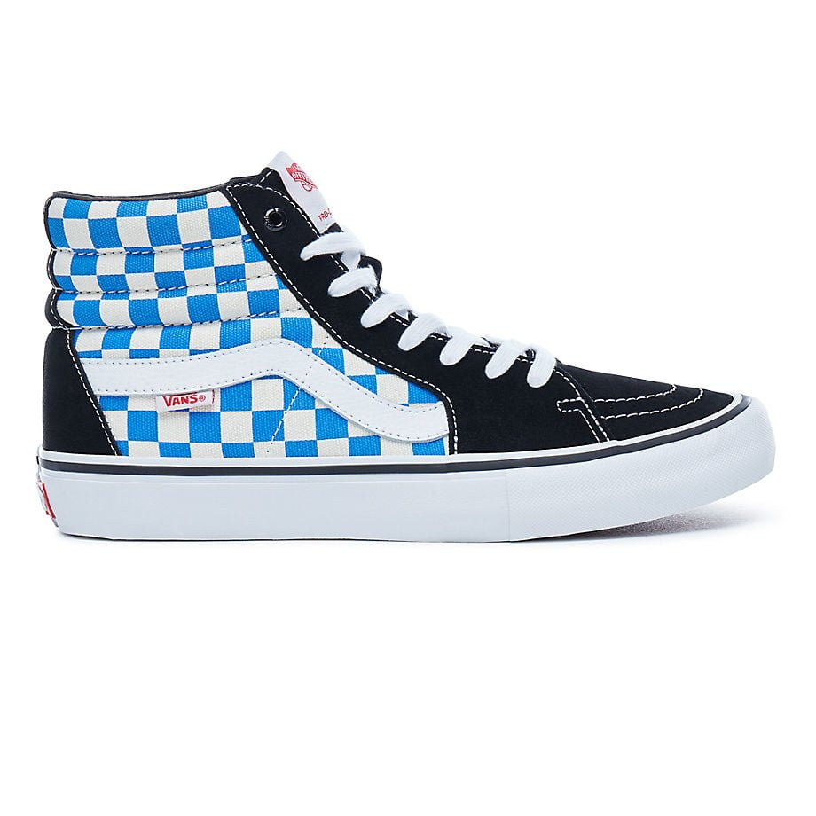 3da332cd7c Vans Sk8-Hi Pro (Checkerboard) - Black Victoria Blue