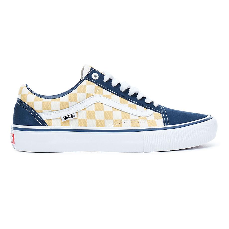 cb366febc1 Vans Old Skool Pro (Checkerboard) - Dress Blue Ochre