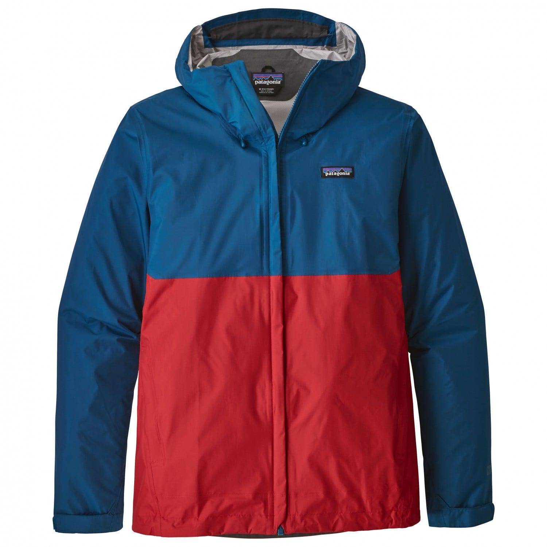 66ddc23160b Patagonia Torrentshell Jacket - Big Sur Blue W  Fire Red