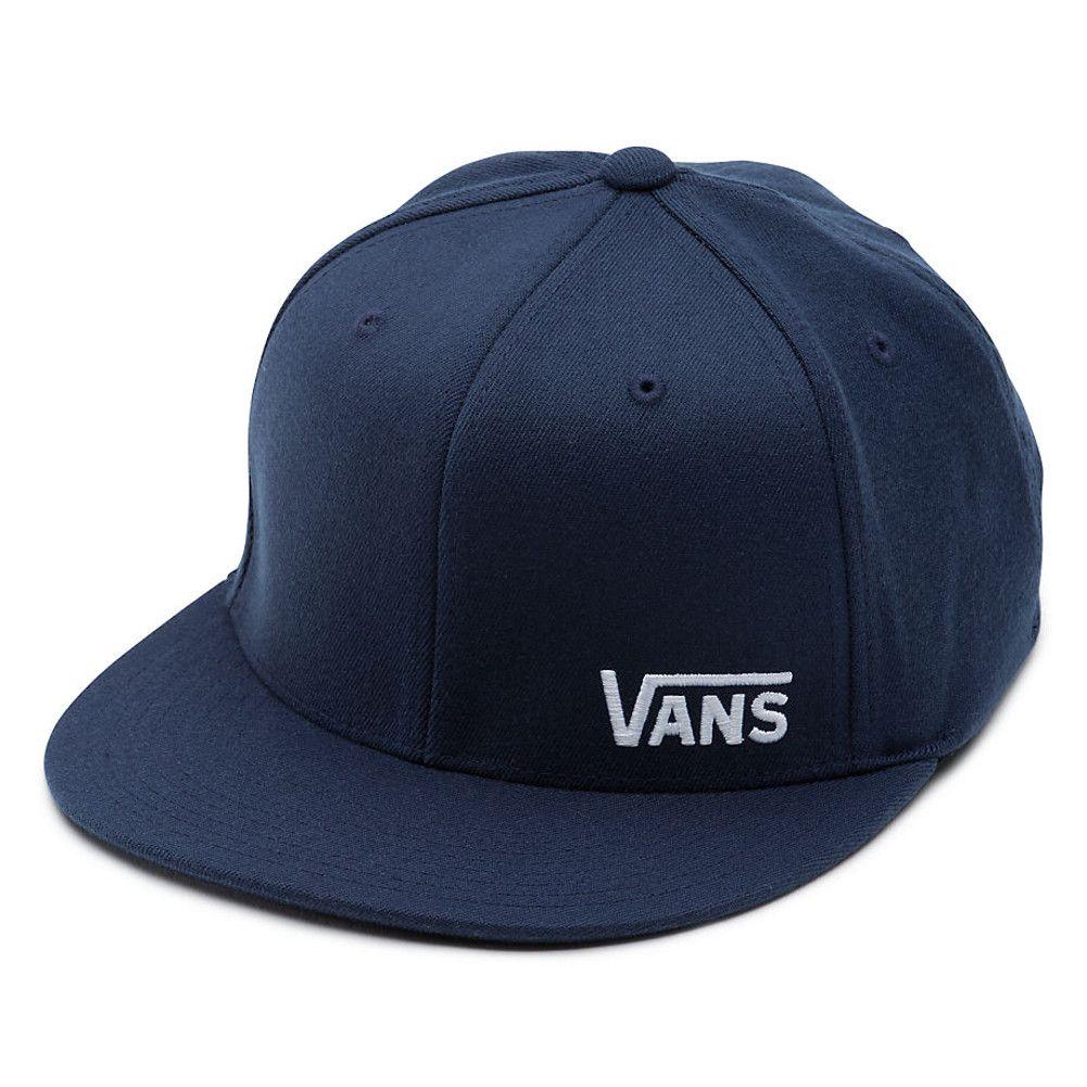 5f2844c5db0e7b Vans Splitz FlexFit Hat- Dress Blue
