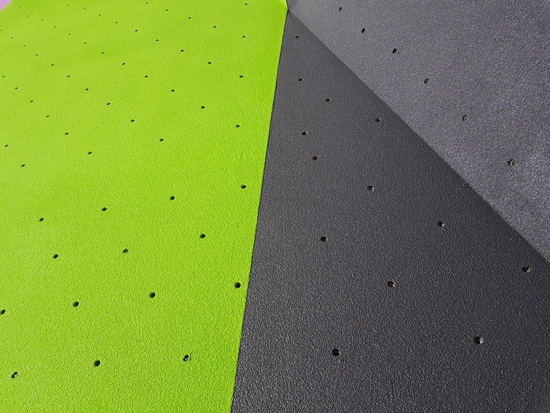 rockcity pro wall textured climbing wall piant - green grey - close up