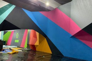 After before rockcity pro wall climbing wall paint 1