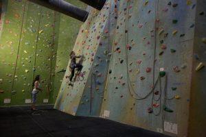 roped wall before rockcity pro wall textured climbing wall paint