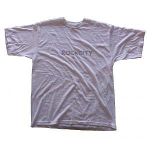 Rockcity grey logo tee - white
