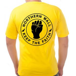 rockcity keep the faith t-shirt yellow back