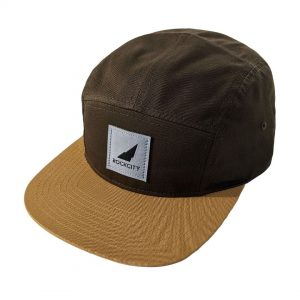 5 panel strapback silver on browns