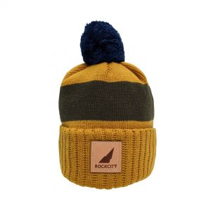 bobble leather on yellow and navy